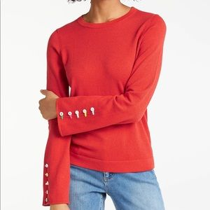 Boden Caprice wool blend button sleeve sweater M